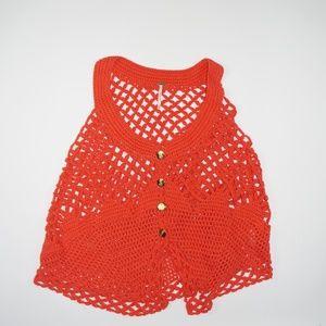 Free People Knit Sweater Sleeveless Top